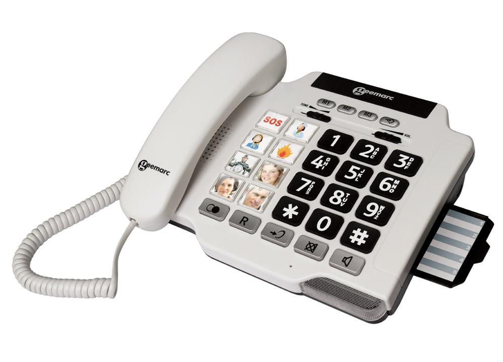 Accessori tecnici sistemi fm sveglie allarmi telefoni per le persone sorde e quelle che - Telefoni a parete ...